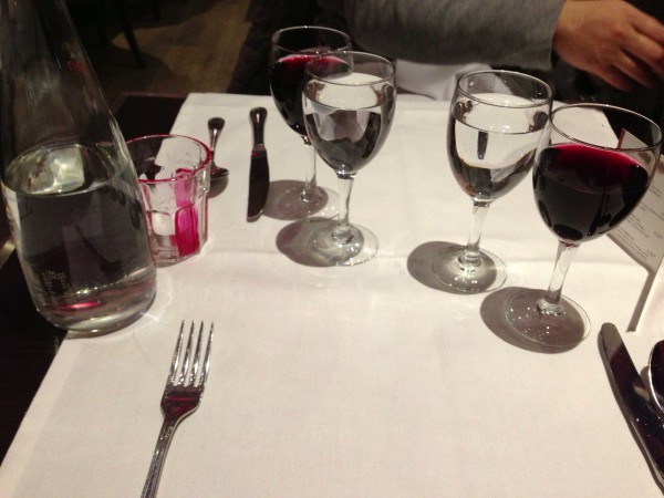 おっさん二人、ワインで乾杯!