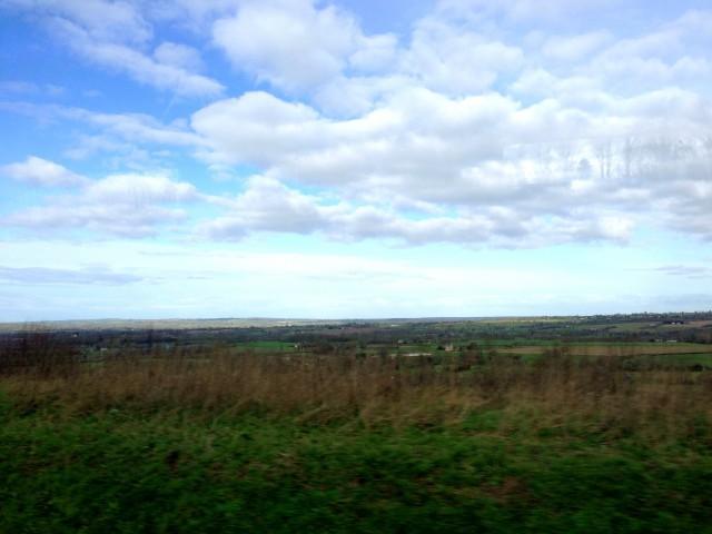 途中は、ひたすら広大な田園風景