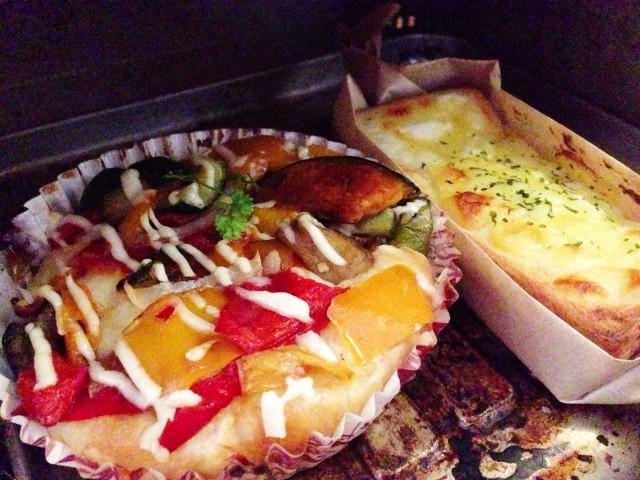 色彩り野菜のラタトゥイユと、クロックムッシュ。トースターで軽く温めました!