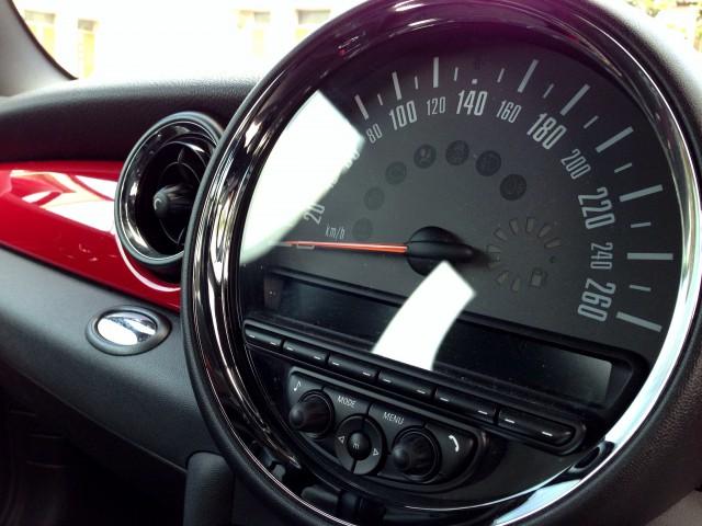 スピードメーターはほぼ見てません…