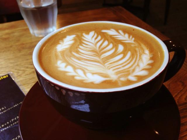 ラテアートが素晴らしいカフェラテ