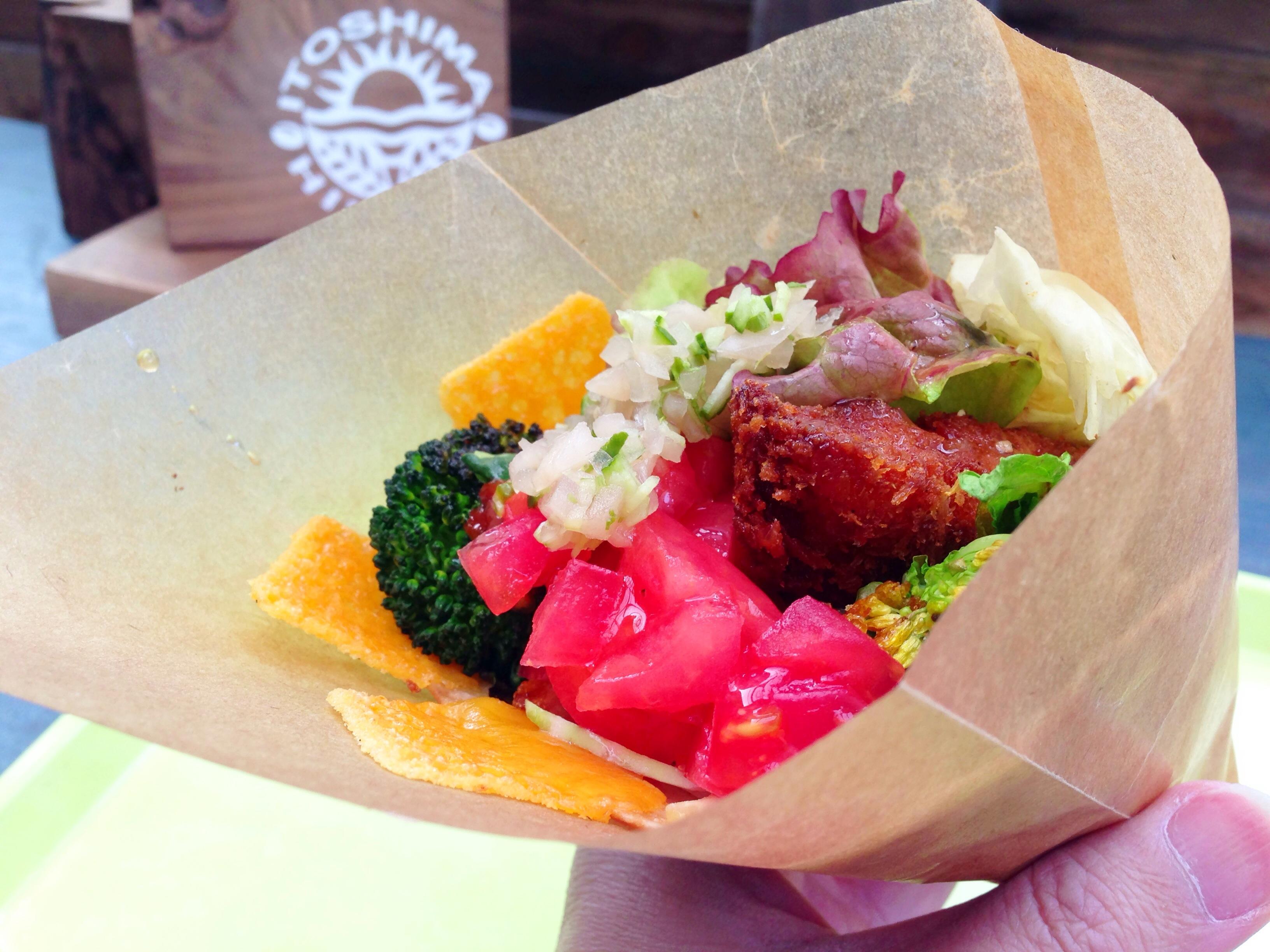 【糸島】ヘルシーな野菜たっぷりの手づくりタコスに大満足!美味しく野菜をいただこう!「mobile kitchen HINODE」