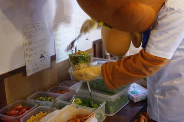 野菜を盛って