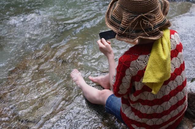 嫁が水に入るの図