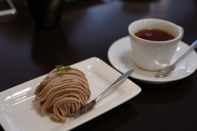 モンブランと紅茶!