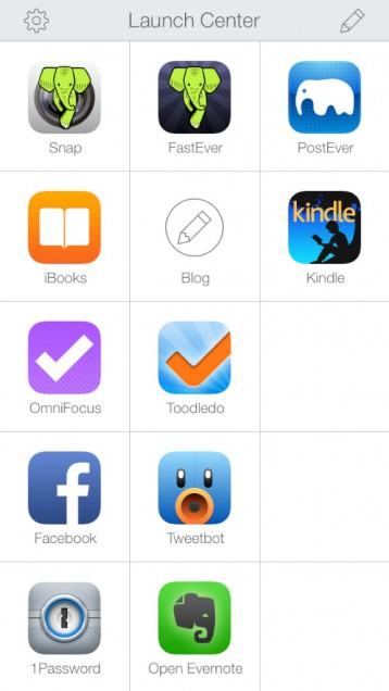 アプリ一覧が表示される!
