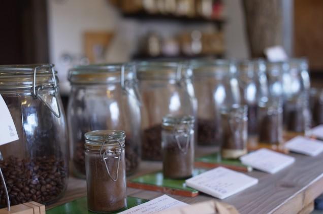 コーヒーがズラリと並んでいます