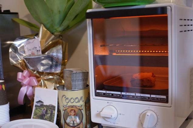 トースターで温め中!