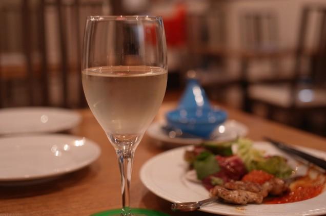 白ワインにしました