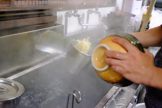 湯切りをキッチリ!