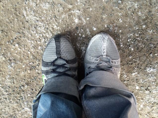 靴は真っ白に!