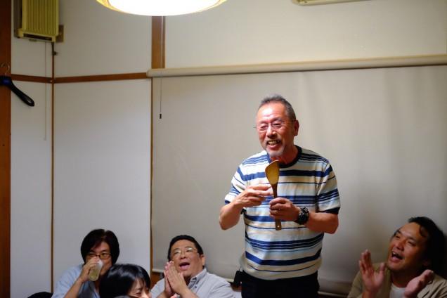 笑顔のお父さんは毎度酔っ払い気味