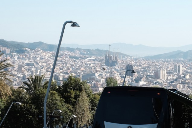 最初の観光はバルセロナ!
