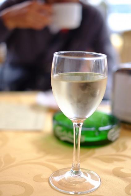 わたしもバルでワインをいただきました!