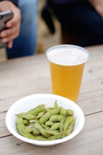 枝豆とビールのセット