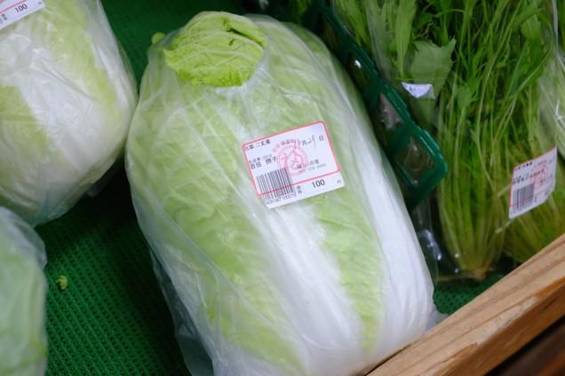 この時期の必需品、白菜も100円!