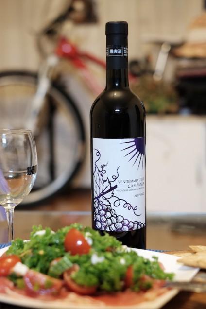 イタリア産の赤ワイン