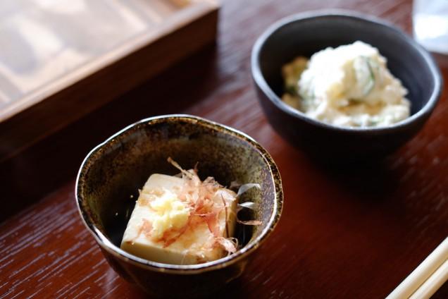 豆腐とポテトサラダ