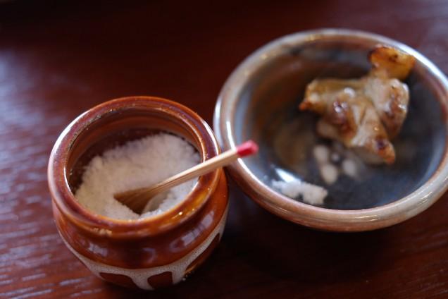 備え付けの塩がオススメ!