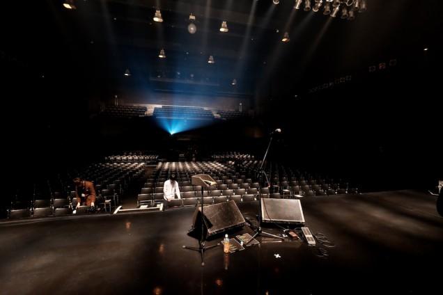 開演前のステージ!