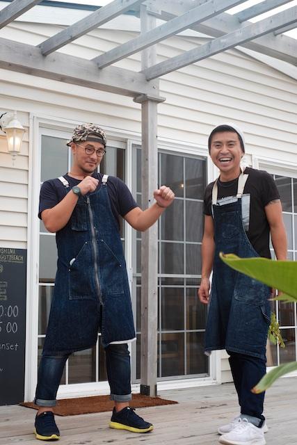 右がオーナーの吉良さん。左が古賀さん。通称かっつん。