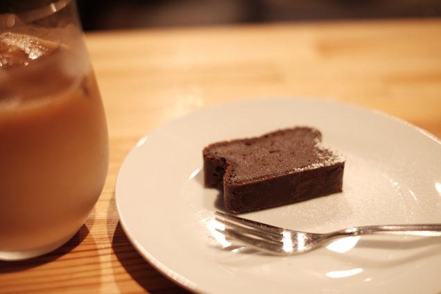 アイスカフェオレと、試作のガトーショコラ!ごちそうさまでした!
